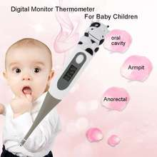 Cute Cartoon Animals Digital Monitor Thermometer Frog / Bear / Cow Diagnostic-tool Oxter & Mouth For Baby Children(China)