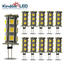 KINDOMLED 10Pcs G4 Led Light Bulbs 12 volt dc led bulbs Led Tower Lamp Leds Chandelier 18leds SMD 5050 Home Lighting Spotlight