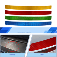 Car Styling Rear Bumper Protector Sill Warning Conspicuity Tape Film Sticker For Mitsubishi Ourlander Pajero Color Optional