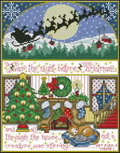 Top Quality Lovely Counted Cross Stitch Kit Twas The Night Before Christmas Eve(China)
