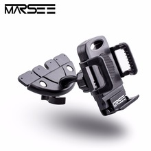 Car Mount,MARSEE Car Universal CD Slot Car Mount Cell Phone Holder with Three Side Grips for Smartphones(China)