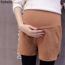Buy Kobeinc 2017 New Maternity Suede Shorts Autumn Winter Clothes Pregnant Women Solid High Waist Pregnancy Clothes M L XL XXL for $11.35 in AliExpress store