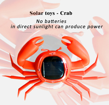 2015 hot sale freeship action Solar Energy Flip Flap Crab Solar Dancing Toy Cute Small Crab Car Decoration Solar Toys(China)
