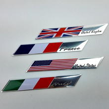 Aluminum Alloy Flag Car Stickers For VW Golf 4 5 6 7 mk2 mk3 mk4 mk7 grips clubs for VW POLO 6N 9N 6R for BMW M2 M3 M4 M5