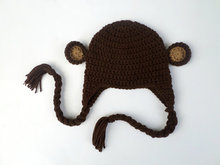 Monkey Hat - Crochet Monkey Hat - Monkey Beanie