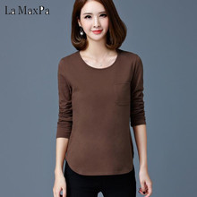 Buy LA MAXPA 2018 New Spring Autumn Cotton Long Sleeve Shirts tops plus size basic shirt slim fashion casual office women's clothing for $7.59 in AliExpress store