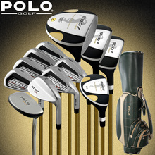 POLO Collections and Professional Gamer golf clubs full set with bag mens golf clubs golf irons set golf graphite shafts(China)