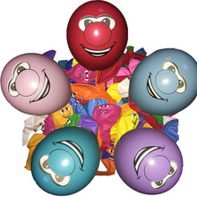 100pcs 12 inches 3.2g Globos prominent nose smile Latex Balloons Inflatable classic Toys Birthday Party Supplies air balloons(China)