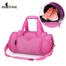 Sports Bag for Women Fitness Gym Bag Shoes Basketball Storage Tote Training Shoulder Crossbody Bags Travel Duffle PINK XA358WD(China)