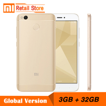 "Global Version Xiaomi Redmi 4X 3GB RAM 32GB ROM Mobile Phone 4 X Snapdragon 435 Octa Core CPU 5.0"" 13MP 4100mAh Band B4 B20"
