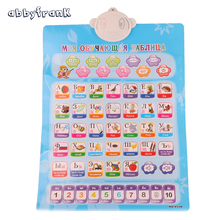 Abbyfrank Russian English Language Learning Machine Sound Wall Alphabet Chart Alphabet Mat Number For Baby Educational Toy