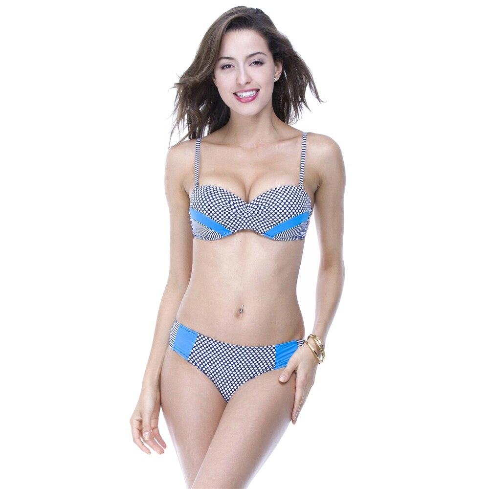 2017 Sexy Bikini Women Swimwear Swimsuit Bathing suits Vintage bikinis Bandeau Bikini Wear Push Up Swimsuits<br><br>Aliexpress