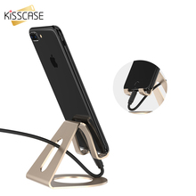 KISSCASE Universal Phone Holder Stand Aluminum Metal Mobile Phone Stand Holder For iPhone Samsung Huawei iPad Table Desk Bracket