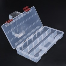 Durable 5 Compartments Transparent Visible Plastic Fishing Tackle Box Fishing Lure Storage Box Case Fish Tool 22.5*11.2*3.3cm(China)