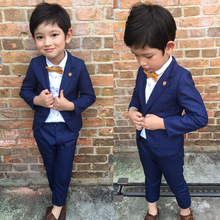 Spring Autumn Toddler Baby Boys Clothes Set Gentleman Formal Boys Blazer Jacket Set Boy Suits For Weddings Children Clothing Set