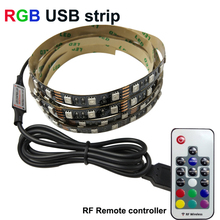 2m 5050 USB Led Strip RGB 5V 60led/M light Non Waterproof tiras for TV Background Computer Bike car Party TR