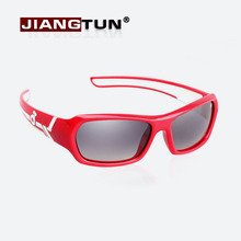 JIANGTUN Hot Sale Summer Girl Sunglasses Red Color Kids Polarized Goggles Baby UV400 Sun Glasses Girl Glasses(China)