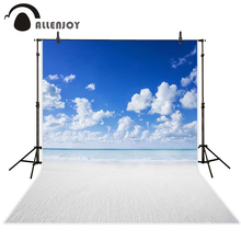 Allenjoy scenery photo backdrop White sand beach seaside light color sky photocall photo background photography backdrop