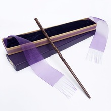 New Arrive Metal/Iron Core Hermione Granger Magic Wand/ Harry Potter Magical Wand/ Elegant Ribbon Gift Box Packing(China)