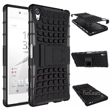 For Sony Xperia Z5 Mini Compact Case 4.6inch Hybrid Kickstand Rugged Rubber Armor Hard PC+TPU Stand Function Cover Cases(China)
