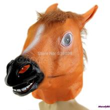 New 2014 Halloween New Horse Head Mask Animal Costume Prop Gangnam Style Toys Party