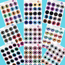 Blyth doll eyes chips pattern it suitable for 1/6 ICY and blyth dolls glass Transparent eye chips eyeball section 2(China)