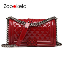 ZOBOKELA Luxury Handbags Women Bags Designer Women Shoulder Bag Summer Style PVC Bags Female Candy Color Chain Jelly Bag 2017