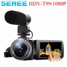 "SEREE Camera Camcorder External Microphone Input Night Vision Full HD 24.0MP Digital Video Recorder 3.0"" Touch Screen Hot Shoe"