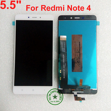 "5.5"" Black White Gold TOP Full LCD Display Touch Screen Digitizer Assembly For Xiaomi Redmi note 4 / Hongmi Note 4/ note4"