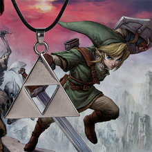 The Legend of Zelda necklace Triforce silver color pendant cosplay jewelry for men and women wholesale