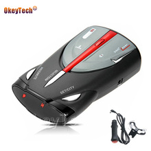OkeyTech Car Vehicle Radar Detector 360 Degree Anti Car Detector Speed Laser Voice Alert Warning 16 Band Speed Control Detector(China)