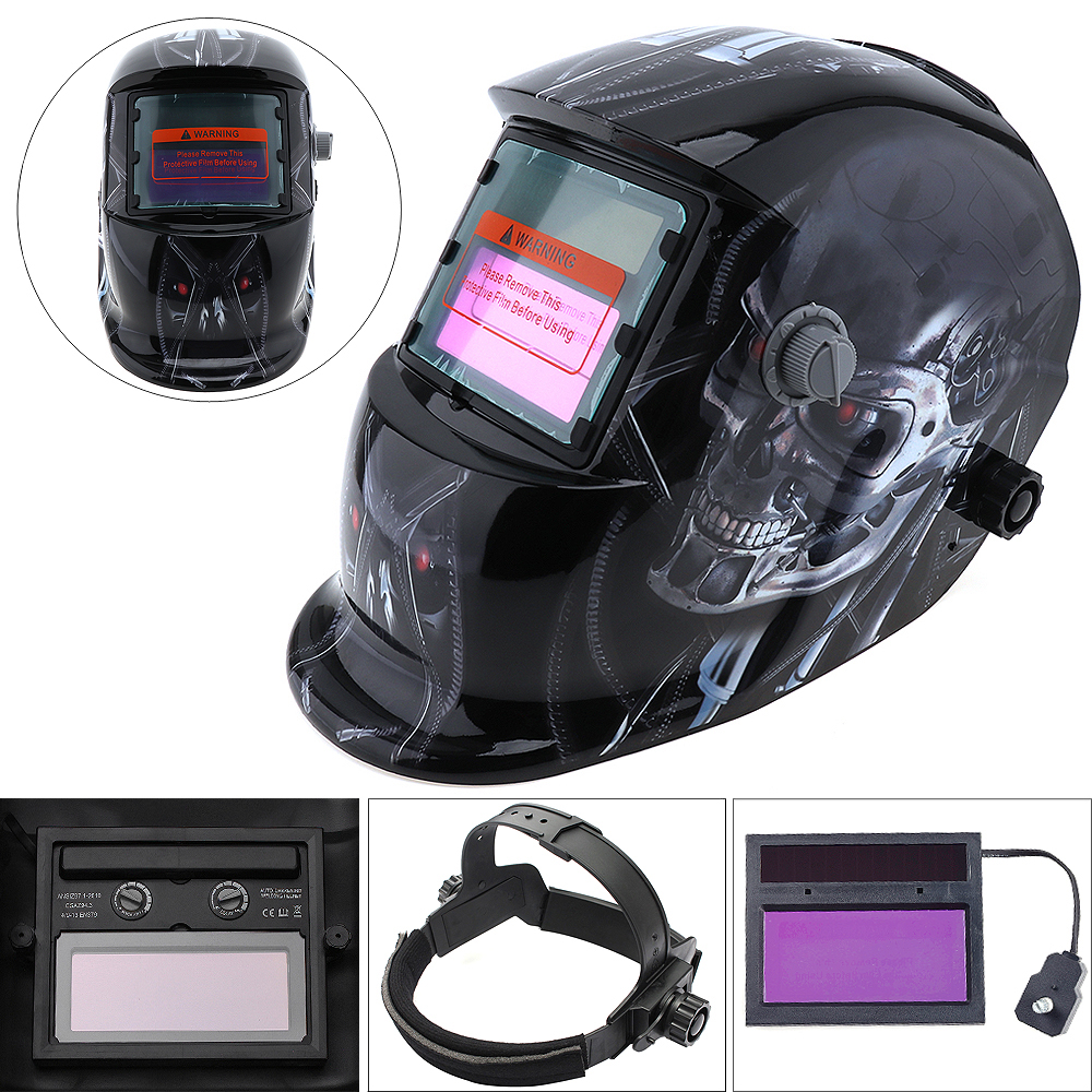 Welding Tools Stepless Adjust Solar Auto Darkening TIG MIG Grinding Welding Helmets / Face Mask / Electric Welding Mask<br>
