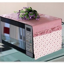 Factory direct Countryside Fabric art Microwave Oven dustproof cover 2 No. purple grid Rose wholesale