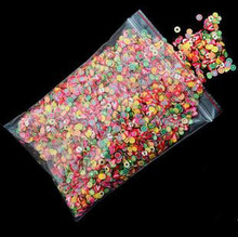 10000pcs/bag DIY Nail Art wheel Decorations feathers Slices 3D Polymer Clay Tiny Fimo Nail Art Rhinestones Acrylic Manicure