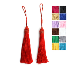 10pcs/lot Silk Rayon Cotton Tassels Earrings Bracelet Necklace Accessories Chinese Knot Satin Tassels DIY Jewelry Making F4000(China)