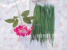 "Rural European 10"" - 25CM  Stamen 100pcs for Decorative Flowers Florist Wire Wedding Church Decor Green FR70"