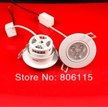 High Power 9W 3x3W led downlight 9w led down light 720LM 24pcs/lot free shipping by DHL(China)