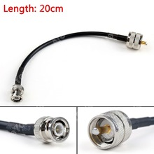 Sale 20cm RG58 Cable PL259 UHF Male Plug To BNC Male Straight Crimp Coax Pigtail 8in High Quality Mini Jackplug Wire Connector