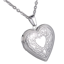1PC Heart Charm Pendant With Vintage Patterns Stainless Steel Openable DIY Necklaces & Pendants Fit Photos For Love Jewelry Gift(China)