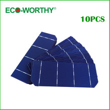 ECO-WORTHY 10pcs Grade A Mono Photovoltaic Cells 4 Bars 1.8W/pcs Monocrystalline Solar Cells 6x2 for DIY Solar Home System