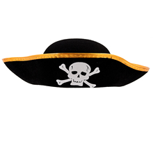Fashion Unisex Dressing Up White Skull Pattern Pirate Bucket Hat Cap