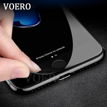 VOERO 3D Soft Edge Full Cover Tempered Glass For iPhone 7 7 Plus Screen Protector For iphone 6 6S Protective Glass Film(China)