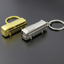 Trendy Novelty Bus Keychain For Men Trinket Llaveros Men's Gold Car Keyring Key Ring Chain Jewelry Men Souvenir Gift Chaveiro