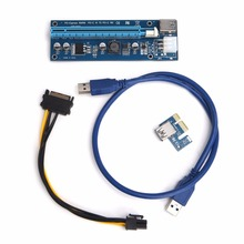 PCI-E Express 1x to16x Powered Extender Riser Adapter Card USB 3.0 Cable 60cm