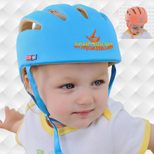 Infant Baby Toddler Safety Helmet Kids Head Protection Hat for Walking, Crawling(China)