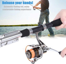 1.8m 2.1m Fishing Automatic Rod Sea River Lake Stainless Steel Automatic Fishing Rod Fish Pole Hard with Storage Bag for Fishing