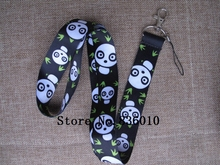 Hot Sale! 10 pcs Popular Bamboo Panda  Key Chains Mobile Cell Phone Lanyard Neck Straps    Favors SZ-126