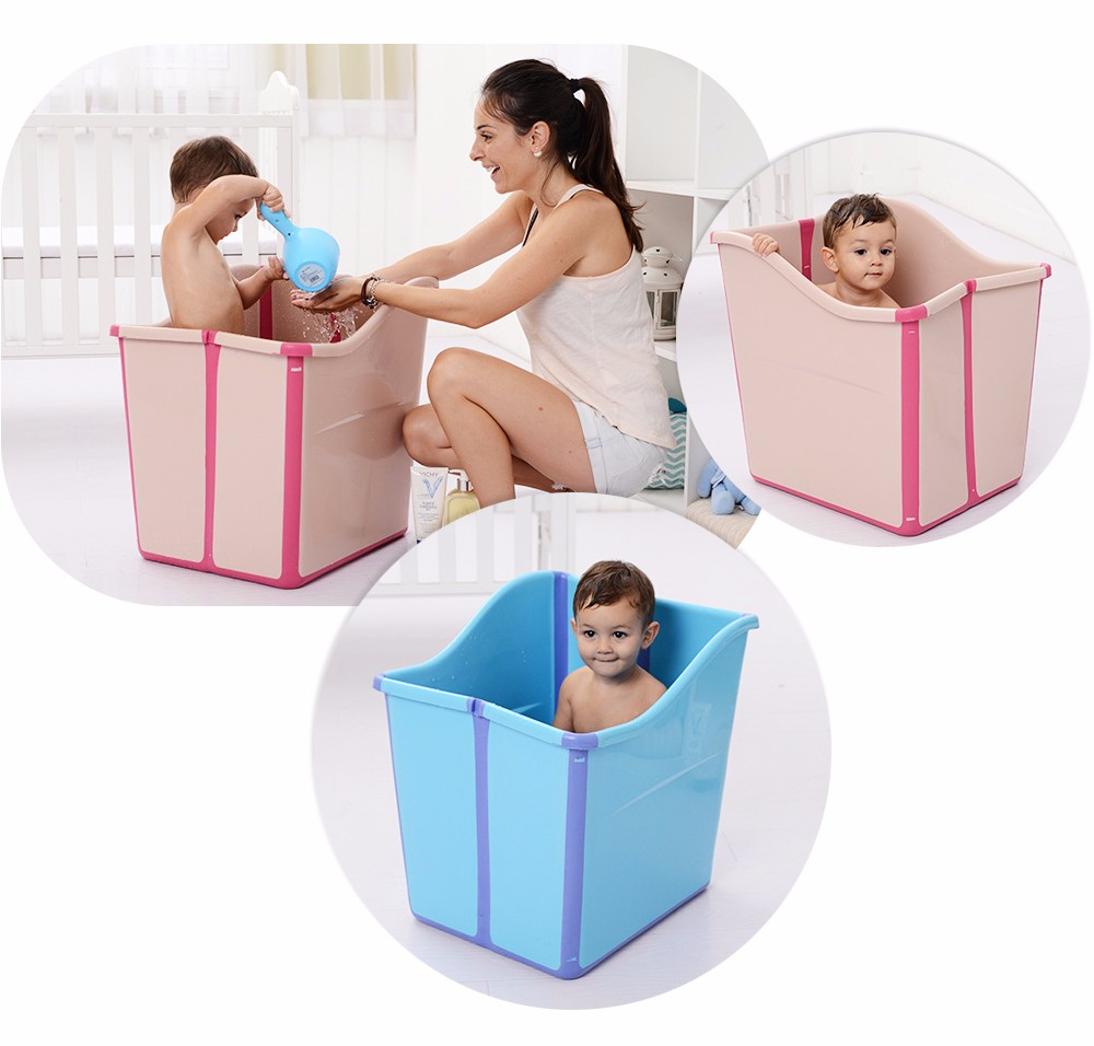 Children Large Folding Baby Bathtub BPA Free Safe Material Thickened ...
