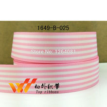 "Free shipping 1"" (25mm) sample ribbons Grosgrain printed ribbon Gift packing ribbon 50 yards/roll 1649B-025(China)"