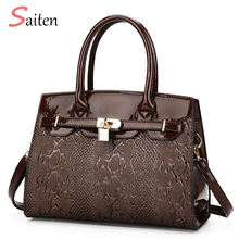 Buy 2017Fashion PU Leather Women Tote Bag New Ladies Famous Brand Handbags Elegant Women Shoulder Bag Sac Main Bolsa Feminina Saco for $21.88 in AliExpress store